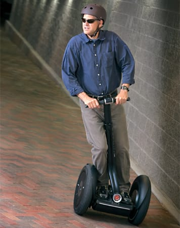 A low carbon Segway user yesterday